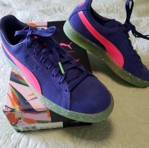 RARE Puma x Sophia Webster blue suede size 9 shoes